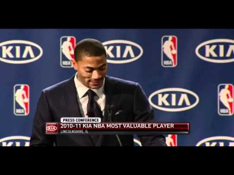 DERRICK ROSE 2010-2011 MVP AWARD PRESENTATION & SPEECH (ORIGINAL VIDEO)