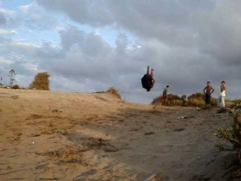 best combos of double backflip and double fulltwist (on sand)
