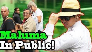 """MALUMA - """"El Prestamo"""" - SINGING IN PUBLIC!!"""