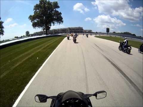 Pop Dreyer Ride 2013 - Indianapolis Motor Speedway MotoGP Track