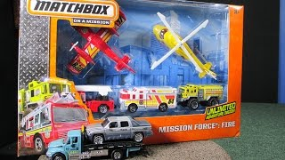 Mission Force: Fire With Matchbox Fire Trucks And Sky