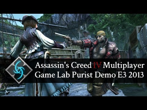 Assassin's Creed 4 - Multiplayer Gameplay - Purist Demo(E3 2013) 1080p HD - T-Shirt Giveaway!