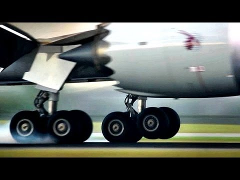 "Close Up!! Boeing 787 ""Dreamliner"" landing (Full HD1080p)"