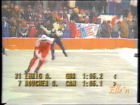 Olympic Winter Games Sarajevo 1984 – 1500 m Ehrig – Boucher