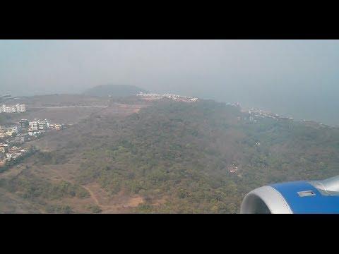 Indigo Airbus A320 landing at Goa Dabolim airport