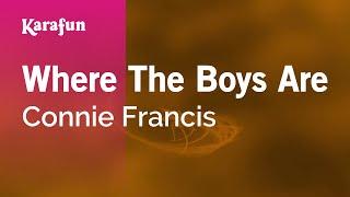 Karaoke Where The Boys Are Connie Francis *