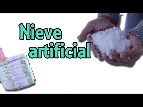 Cómo hacer nieve artificial (Experimentos Caseros)