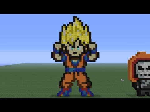 Minecraft Pixel Art: Goku Tutorial