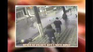 Menor ao volante bate ve�culo e mata amigo em Dores do Indai�