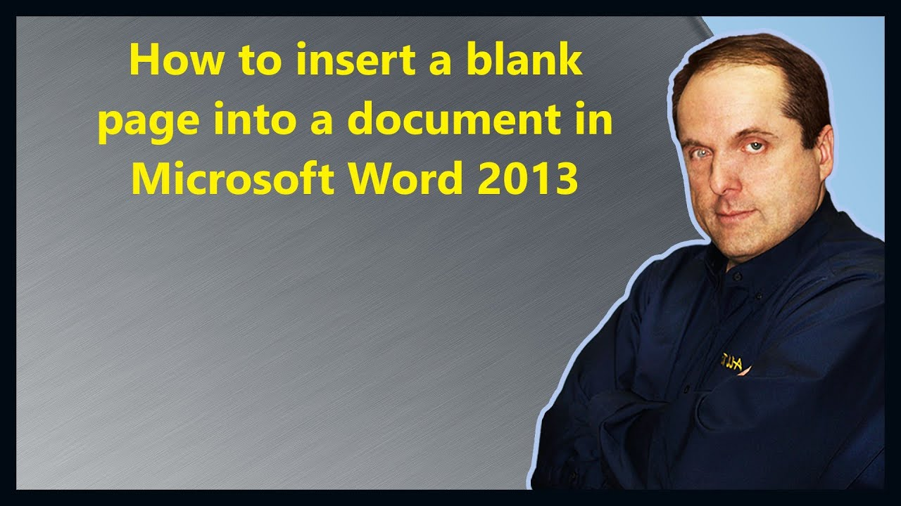 how to insert a blank page into a document in microsoft