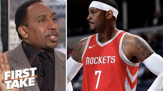 Expectations low for Carmelo Anthony because he's past his prime - Stephen A. | First Take