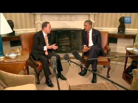 President Obama Meets with UN Secretary General Ban Ki-moon