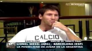 Entrevista A Lionel Messi Fox Sports (Debate Final