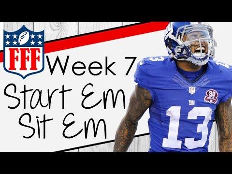 Week 7 Start'Em Sit'Em - 2016 Fantasy Football