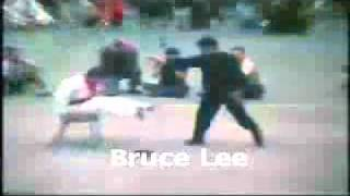 Bruce Lee Punching With Speed And Power