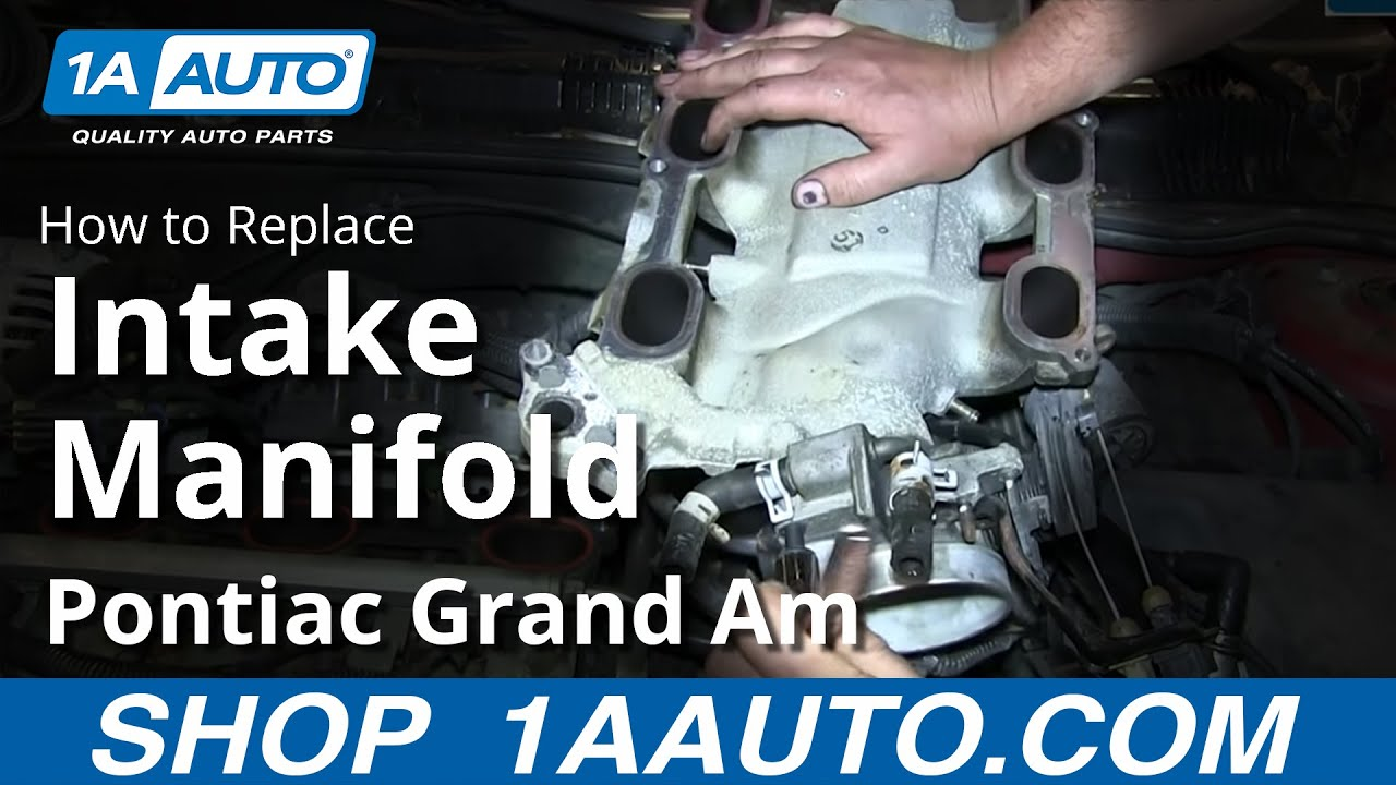 How To Install Replace Upper Intake Manifold Plenum Gm 3 4l V6 Pontiac Grand Am Olds Alero Youtube