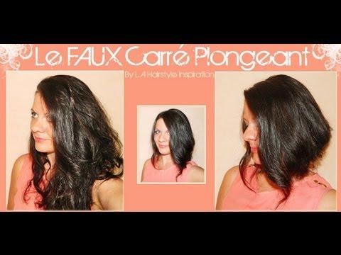 【Astuce】 Le FAUX carré plongeant | L.A Hairstyle Inspiration - YouTube