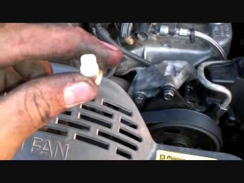 Replace Temperature Sensor On Jeep Grand Cherokee Youtube