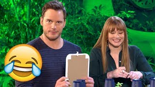 Chris Pratt & Bryce Dallas Howard Take The Ultimate Dinosaur Challenge