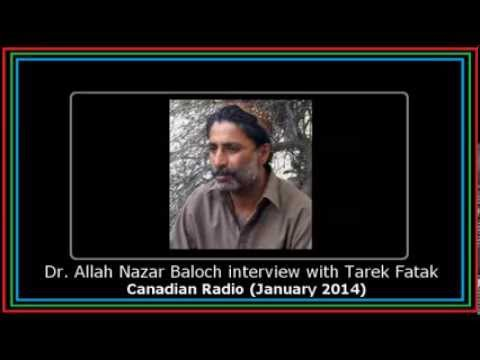 Dr. Allah Nazar Baloch interview with Tarek Fatah | Canadian Radio