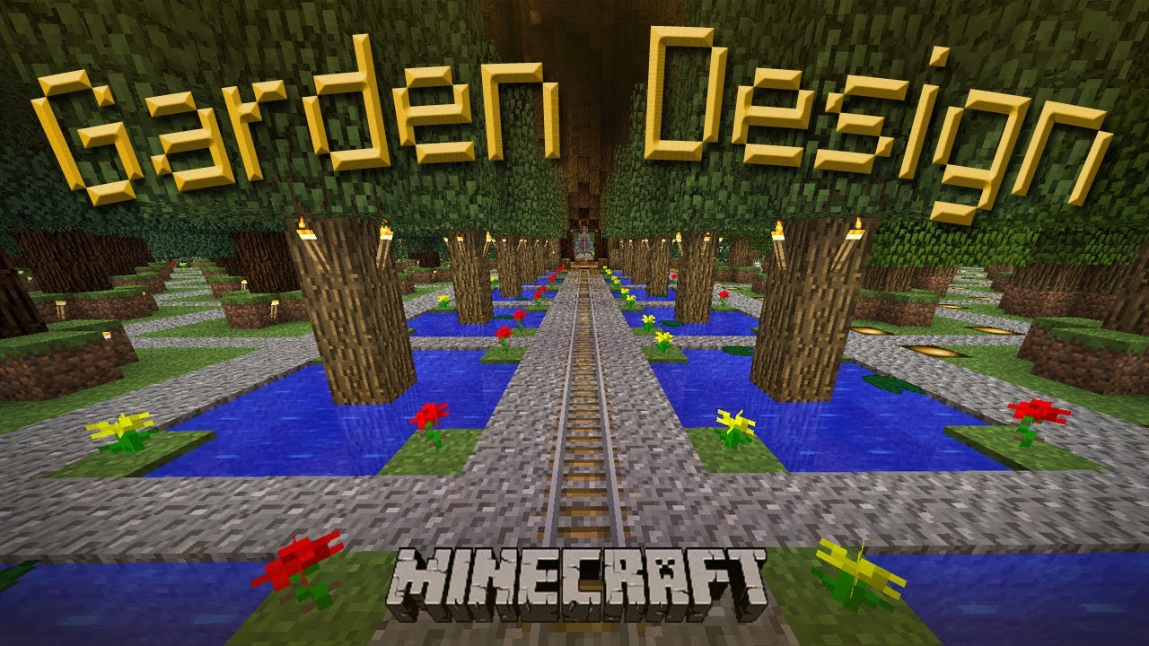 Minecraft how to make a cool garden design youtube - Minecraft garden designs ...