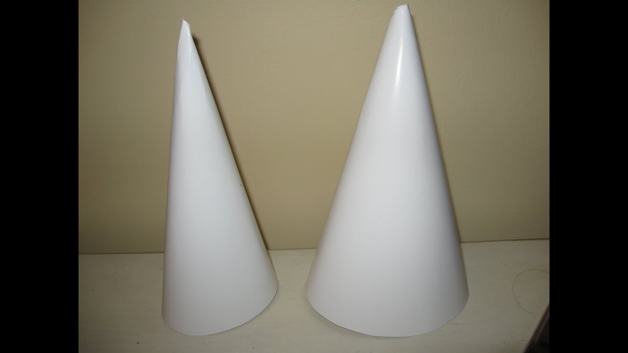 How to make a cone craft tutorial youtube for Cardboard cones for crafts