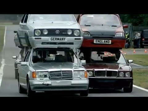 Top Gear vs The Germans Part 1 - Double Decker Racing - Series 11 - BB