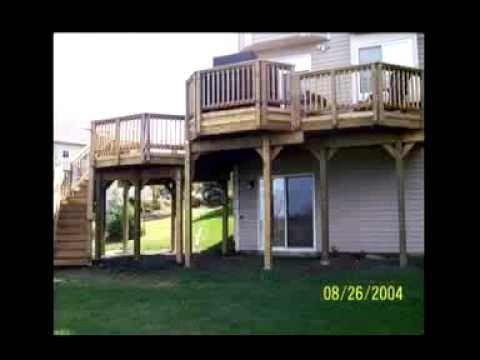 Double Deck Design : Two Story Double Deck - YouTube