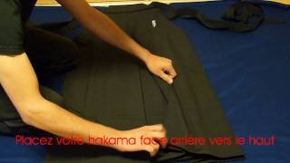 Comment Plier Le Hakama / How To Fold Hakama