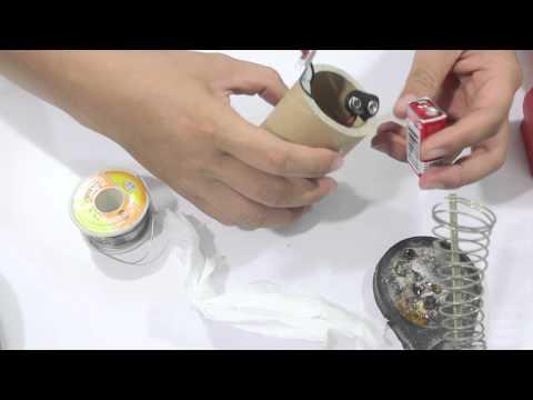 Đồ chơi trẻ em : Cách chế robot con lăn từ lỗi giấy vệ sinh