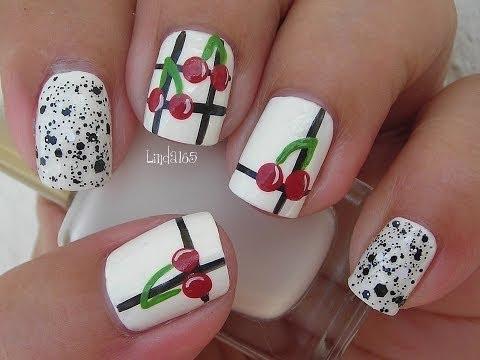 Nail Art - Vintage Cherries