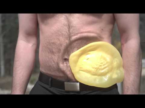 Water Balloon in Stomach in Epic Slow Mo   Slow Mo Lab