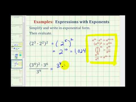 Example 1: Simplify Exponential Expressions - Positive Exponents Only