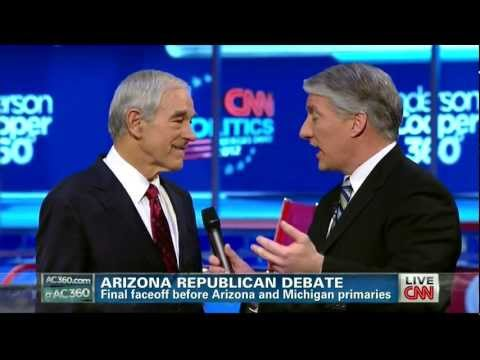 Ron Paul after the AZ Republican Debate - CNN - February 22, 2012