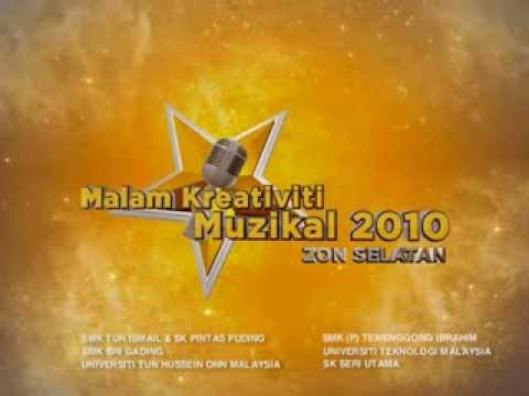 The menu for Malam Kreativit Muzikal 2010 Zon Selatan