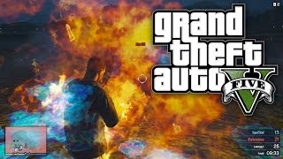 GTA 5 HUNGER GAMES LITERALLY CATCHING FIRE! (GTA V Online)