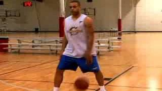 Basketball Dribbling Drills : Behind The Back Cross Over
