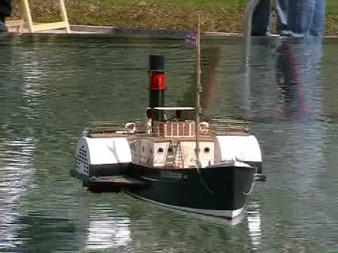 RC Paddle Steamer Boat - Glasgow - Steam Tug Boat - YouTube
