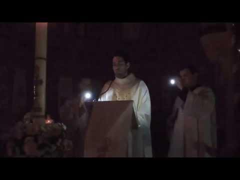 Precônio Pascal pelo padre Ronaldo Miguel - Catedral de Barretos 2014