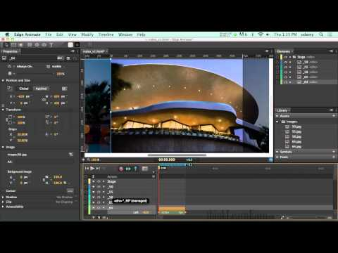 Adobe Edge animate preview 7 How to make a slide show or  web banner ad with a javascript timer