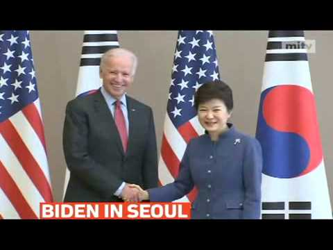mitv - U.S. Vice President Joe Biden met with South Korean President Park Geun-hye in Seoul