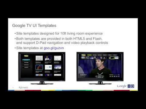 Google I/O 2011: Building Web Apps for Google TV
