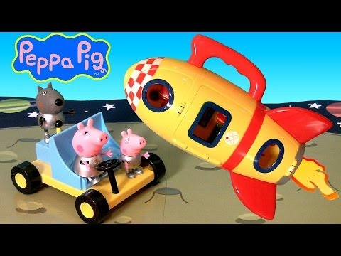 Peppa Pig Spaceship Explorer Playset With Moon Buggy Play Doh Moon Dough Nickelodeon