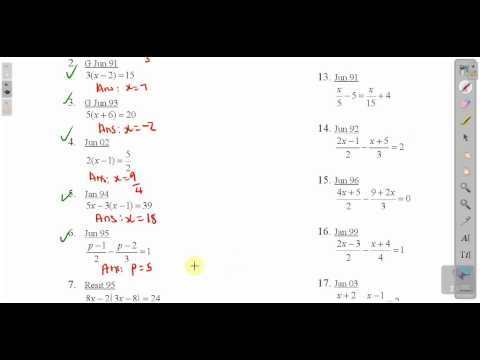 CXC CSEC Maths- How To Solve Linear Equations Lesson 2