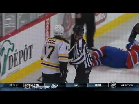 Milan Lucic Boards Jaroslav Spacek Apr 26, 2011 - CBC feed