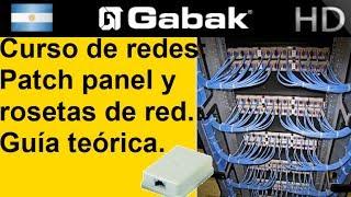 Patch panel y rosetas de red