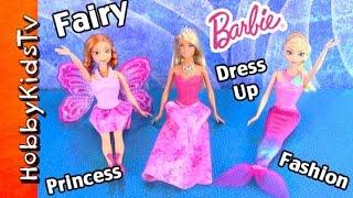 Barbie Doll Elsa Fashion Mermaid, Anna Fairy Princess