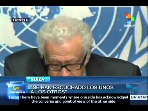 Lakhdar Brahimi: Syria peace talks a modest beginning