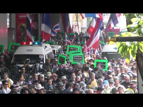 Protests Bangkok 2014  Nana BTS part 1  720HD