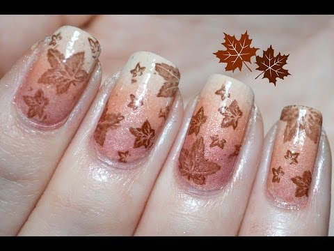 Ombre Autumn NailArt